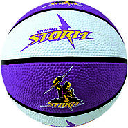 Storm NRL Supporter Basketball - Melbourne Australia