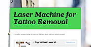 Laser Machine for Tattoo Removal