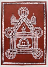 WARLI ART RED