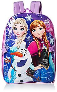 Disney Little Girls Frozen Backpack with Lunch, Purple, One Size