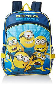 Despicable Me Boys' Universal Pictures Blue 16 Inch Backpack with Detachable Lunch Bag, Multi, One Size