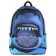 Hynes Eagle Printed Kids School Backpack Cool Children Bookbag Shark