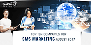 Top Ten Companies for SMS Marketing - August 2017