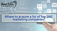 Where to acquire a list of Top SMS marketing companies