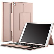IVSO Apple iPad Pro 10.5 Case With Keyboard Ultra-Thin DETACHABLE Bluetooth Keyboard Stand Case / Cover + Pencil hold...