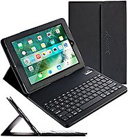 iPad Pro 12.9 Keyboard + Leather Case, Alpatronix KX140 Bluetooth iPad Keyboard Folio Smart Case with Removable Wirel...