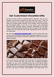 Get Customized Chocolate Gifts
