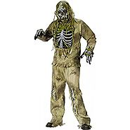 Fun World - Skeleton Zombie Teen Costume