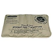 Natural Amethyst Far Infrared Thermo Therapy Stomach, Back & Whole Body Heat Pad, By JIC Gem