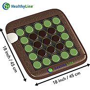 "HealthyLine Far Infrared Heating Pad (Firm)|Natural Jade & Tourmaline Healing Pad 18""X 18""