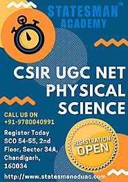 CSIR UGC NET Physical Science Coaching In Chandigarh | Statesman Academy