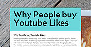Why People buy Youtube Likes
