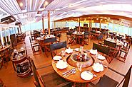 1920 industrial restaurant at Vintage Luxury Yacht Hotel