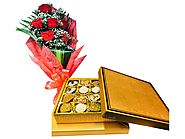 Chocolate box Flower Combo|cake delivery Sharjah | online cake delivery in sharjah | cake to sharjah online