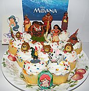 Disney Moana Movie Deluxe Mini Cake Toppers Cupcake Decorations Set of 14 with 12 Figures, a Sparkle Ring and Tattoo ...