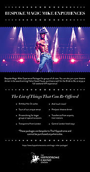 Magic Mike Packages - Bespoke Magic Mike Experiences