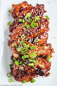 Baked Korean Gochujang Chicken Wings