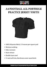 A4 Football All Porthole Practice Jersey Youth