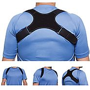 "Upper Back Support Posture Corrector – Fits 24""-48"" Chest for Women & Men – Elastic, Sweat Wicking Back Brace Correct..."