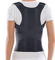 TOROS-GROUP Comfort Posture Corrector and Back Support Brace, Back Pain Relief for Men and Women / 100%-Cotton Liner ...
