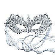 The Authentic Silver Grey Ana Lace Goddess Ana Masquerade Mask