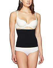 Arabella Women's Firm Control Seamless Waist Cincher Shapewear, Black, Medium