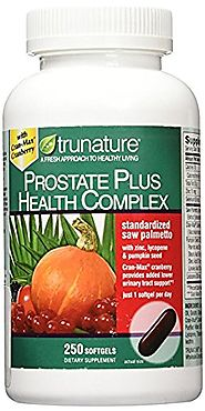TruNature Prostate Plus Health Complex - Saw Palmetto with Zinc, Lycopene, Pumpkin Seed - 250 Softgels
