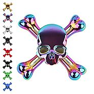 Tepoinn Fidget Spinner Skull Finger Spinner EDC Hand Spinner with Ultra Fast Ceramic Bearing, Small Size Anxiety Reli...