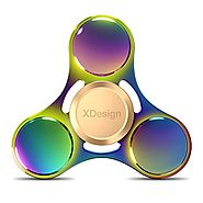 XDesign Fidget Spinner Rainbow Hand Focus Toy, [Hand Spinner] Anti-anxiety Depression Figit Spinner Ultra Durable Hig...