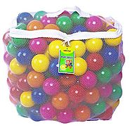 Click N' Play Value Pack of 400 Phthalate Free BPA Free Crush Proof Plastic Ball, Pit Balls - 6 Bright Colors in Reus...