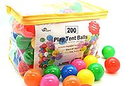Pack of 200 Phthalate Free BPA Free Crush Proof Plastic Ball, Pit Balls - 6 Bright Colors in Reusable and Durable Sto...