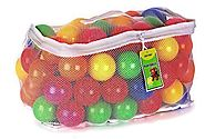 Click N' Play Pack of 100 Phthalate Free BPA Free Crush Proof Plastic Ball, Pit Balls - 6 Bright Colors in Reusable a...