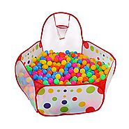 Kuuqa Kids Ball Pit Ball Tent Toddler Ball Pit with Basketball Hoop and Zippered Storage Bag for Toddlers 4 Ft/120CM ...