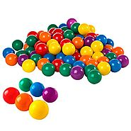 "Intex 2-1/2"" Fun Ballz - 100 Multi-Colored Plastic Balls, for Ages 2+"