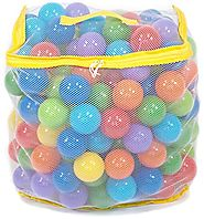200 Wonder Playball Non-Toxic Crush Proof Quality Pit Balls w/ Mesh Bag: 8 Colors