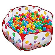 Kuuqa Kids Ball Pit Ball Tent Toddler Ball Pit with Red Zippered Storage Bag for Toddlers Pets 39.4-inch by 19.7-Inch...