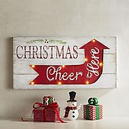Christmas Cheer LED Light-Up Wall Decor