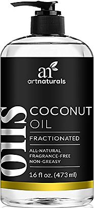 ArtNaturals Premium Fractionated Coconut Oil - 16 oz - 100% Natural & Pure – Therapeutic Grade Carrier and Massage Oi...