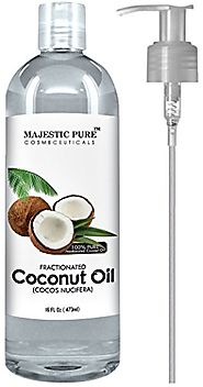 Majestic Pure Fractionated Coconut Oil, 16 fl. oz. For Aromatherapy Relaxing Massage, Carrier Oil for Diluting Essent...