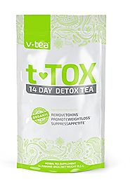 VTea Teatox 14 Day Detox Tea Designed to Cleanse, Boost Energy & Reduce Bloating (14 Pyramid Tea Bags)