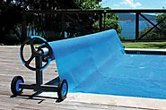 Kokido Alux Aluminum Swimming Pool Cover Reel & Tube (Up to 21.1ft) | K943+516BX