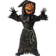 Bobble Head Pumpkin Child's Halloween Costume