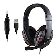 FNSHIP P3-726 Headband Gaming Headset USB Port Wired Stereo Micphone Headphone Earphone for SONY PS3 PS4 PC Game