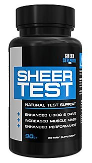 Sheer Testosterone Booster for Men - Natural Supplement for Increasing Strength, Stamina, and Energy, 90 Testosterone...