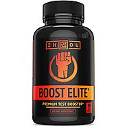 BOOST ELITE Test Booster Formulated to Increase T-Levels, Vitality & Energy - 9 Powerful Ingredients Including Tribul...