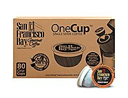San Francisco Bay OneCup French Roast 80 Count- Single Serve Coffee (Compatible with Keurig)