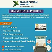 Advanced Excel Training in Gurgaon | Excel Training in Gurgaon