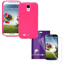 Fosmon 2 in 1 Bundle for Samsung Galaxy S4 IV / I9500 - 1x DURA Frost SLIM-Fit Case Flexible TPU Cover (P...