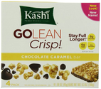 Kashi GOLEAN Bar Crunchy! Chocolate Caramel (1.59-Ounce), 4-Count Bars (Pack of 6)
