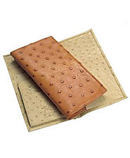 Trendy And Exotic Ostrich Skin Wallets